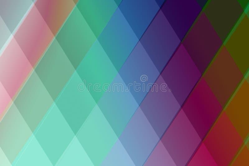 五颜六色的摘要锭剂几何形状背景 免版税库存照片