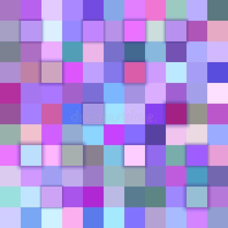 五颜六色的摘要3d立方体背景 皇族释放例证