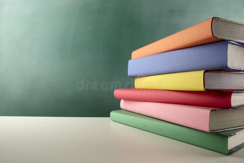 五颜六色的教科书 库存图片