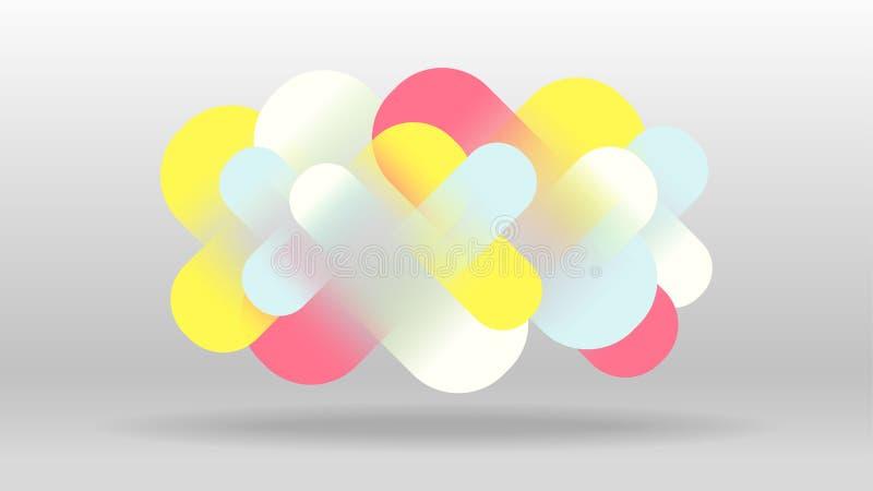 五颜六色的数字元素摘要 皇族释放例证