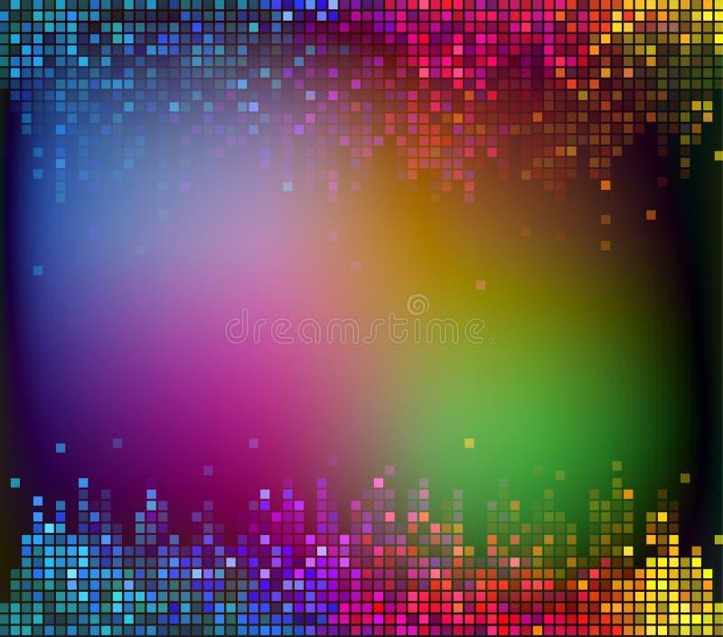 五颜六色的数字式合理的抽象背景传染媒介 库存例证