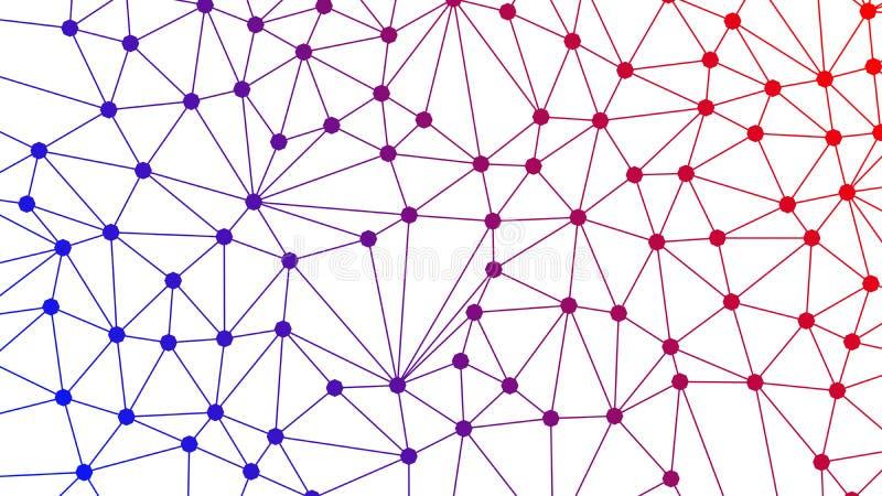 五颜六色的数字资料和网络连接三角线和 库存例证