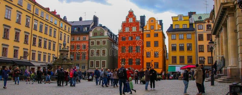 五颜六色的斯德哥尔摩 免版税库存照片