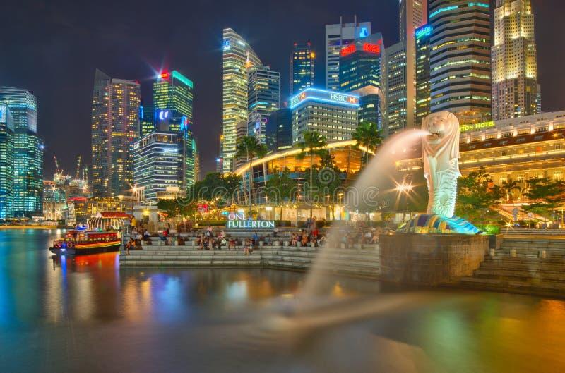 五颜六色的新加坡,狮子城市 库存图片