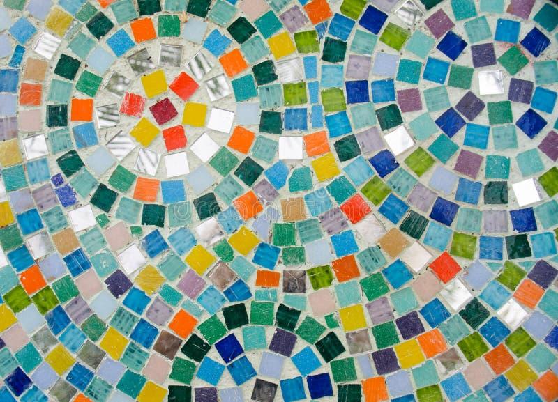 五颜六色的方形的马赛克以圆形式 库存照片
