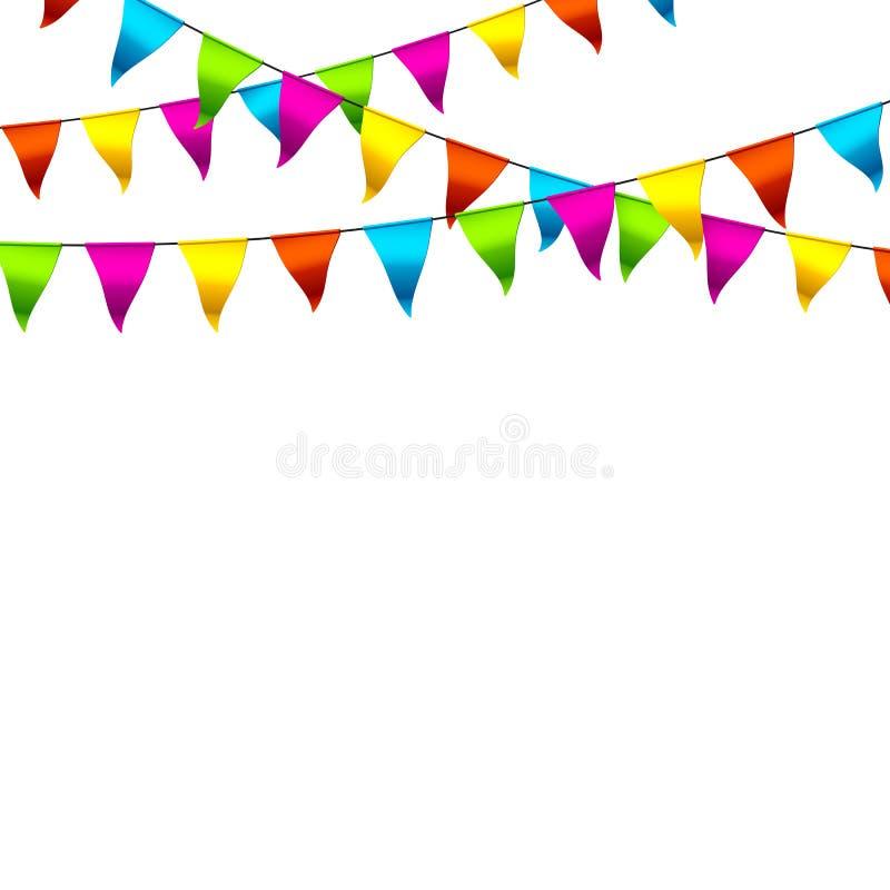 五颜六色的旗布标志 库存例证
