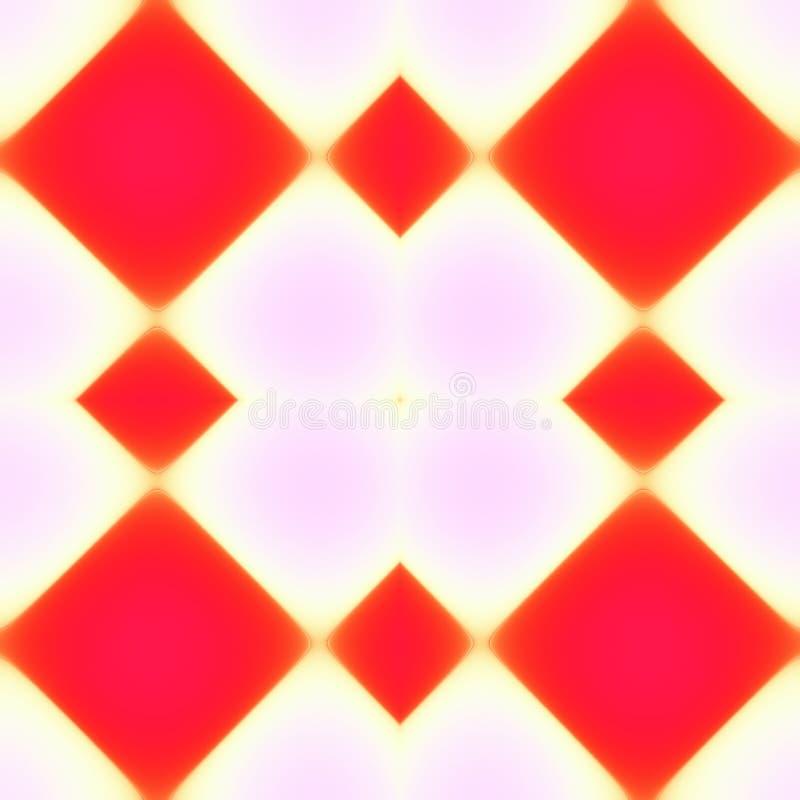 五颜六色的无缝的方形瓦片 向量例证