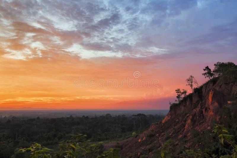 五颜六色的日落 免版税图库摄影