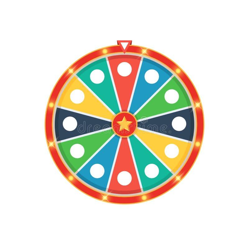 五颜六色的时运轮子 库存例证