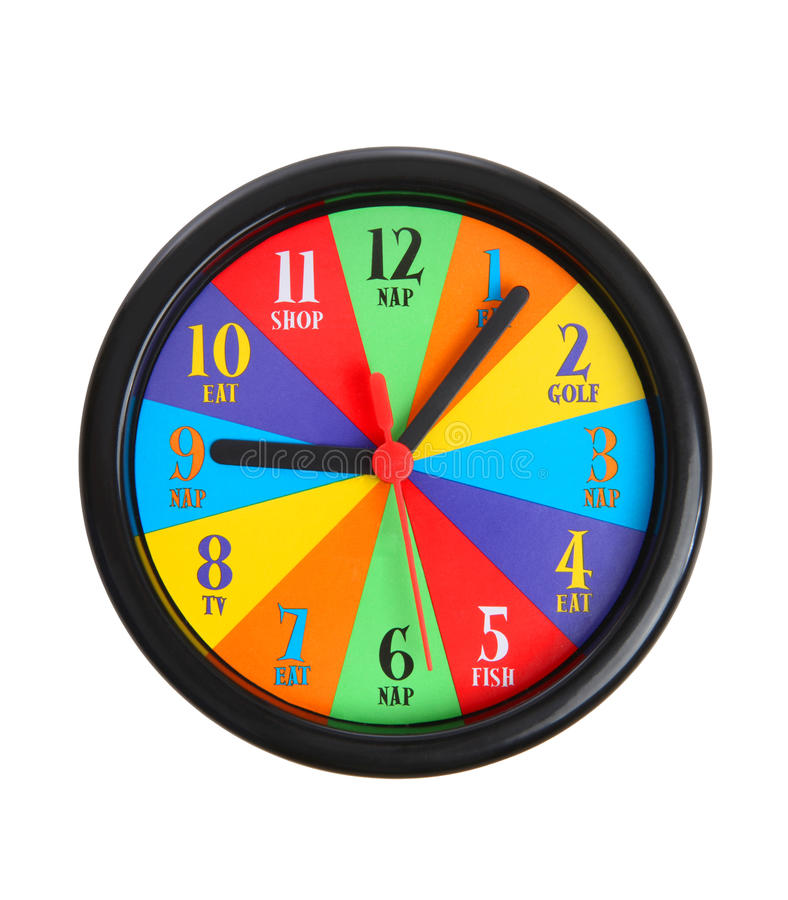 五颜六色的时钟 免版税库存图片