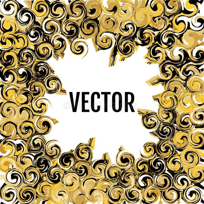 五颜六色的明亮的抽象螺旋,漩涡背景 框架,文本的横幅 元素,设计的模板 向量 向量例证