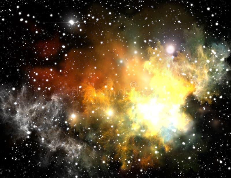 五颜六色的星云空间