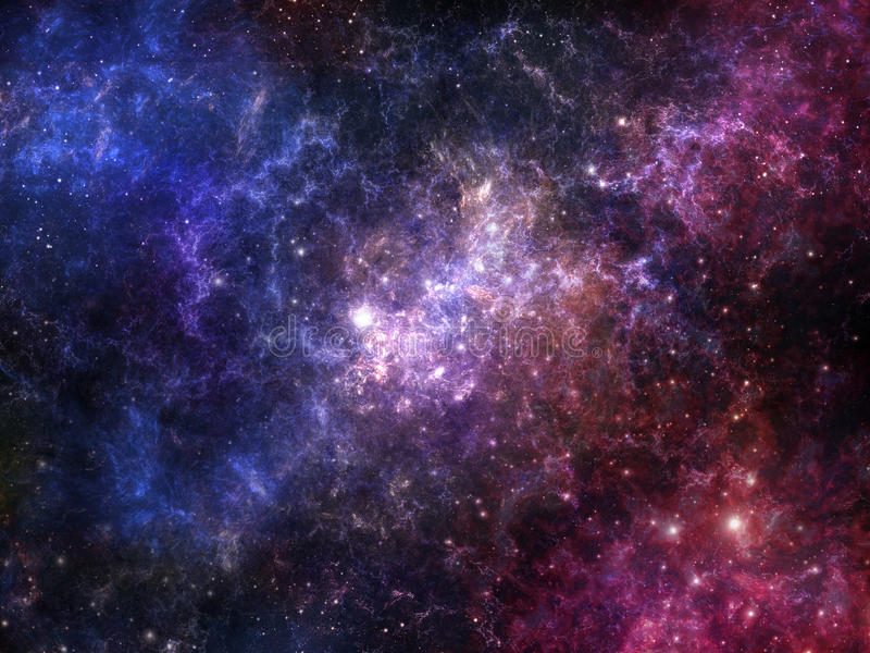 五颜六色的星云空间 库存例证