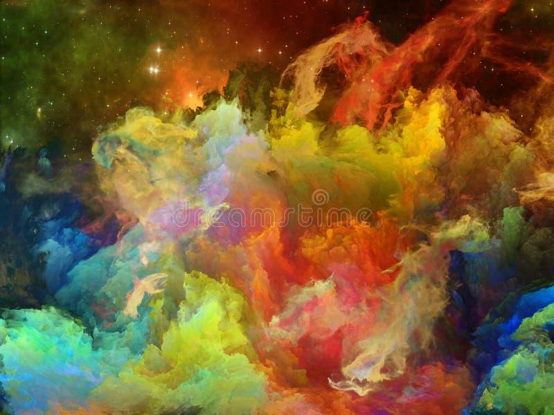 五颜六色的星云空间 图库摄影