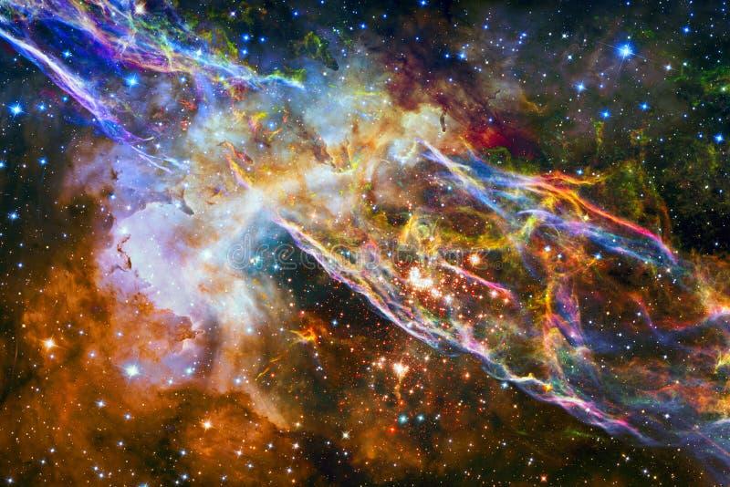 五颜六色的星云 美国航空航天局装备的这个图象的元素 库存图片