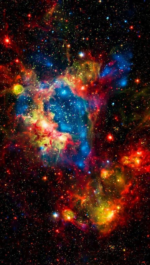 五颜六色的星星系空间宇宙墙纸背景 免版税库存图片