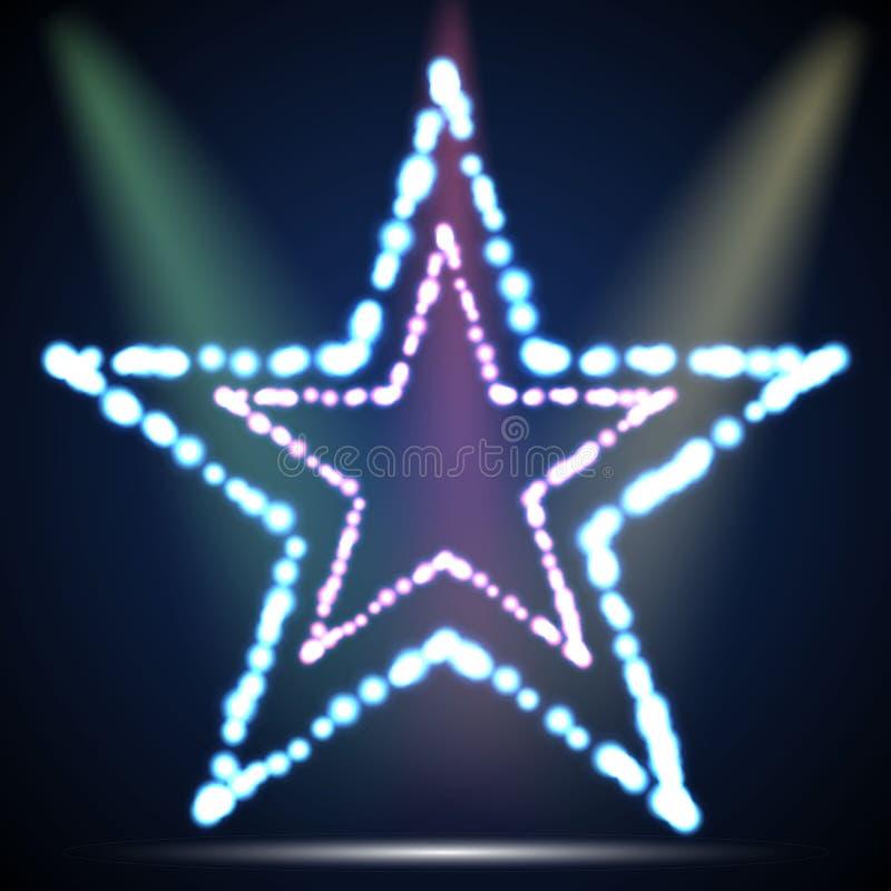 五颜六色的星由圈子制成加点传染媒介 向量例证
