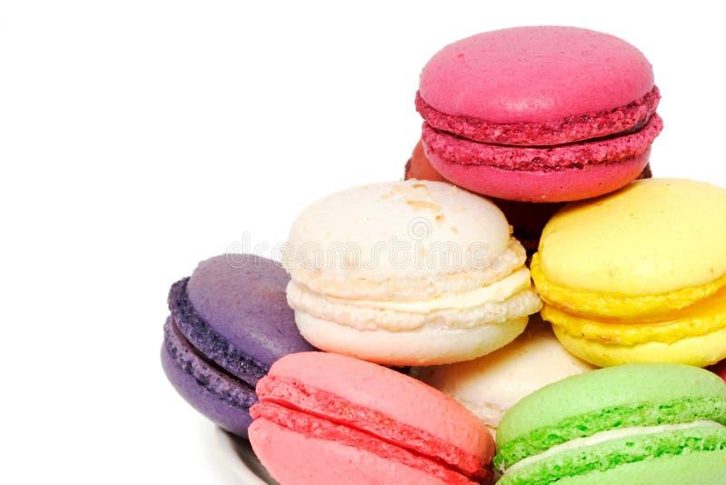 五颜六色的曲奇饼蛋白杏仁饼干 免版税库存图片