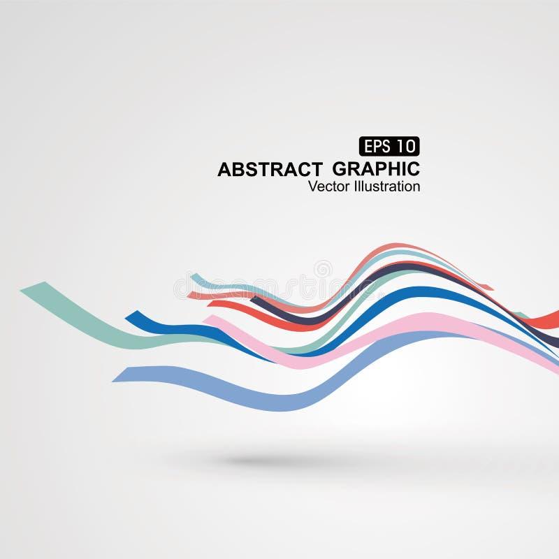 五颜六色的曲线构成有透视图表感觉.图片