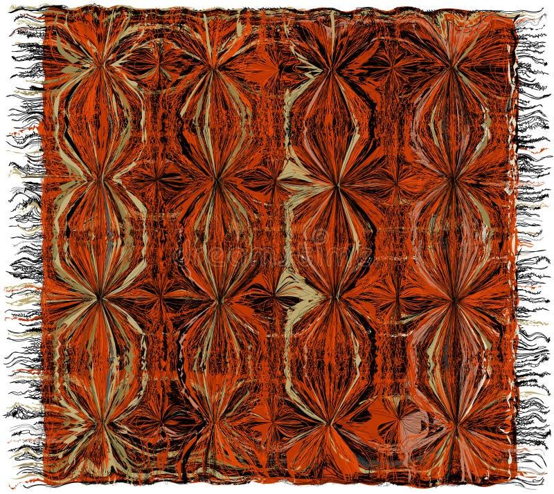 五颜六色的有边缘的织法难看的东西镶边地毯 库存例证