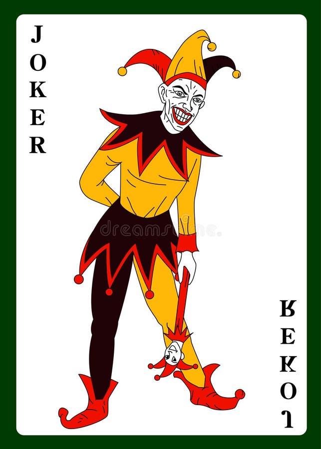 五颜六色的服装的说笑话者 皇族释放例证