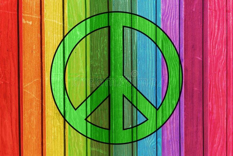 五颜六色的木板条-和平标志 免版税图库摄影