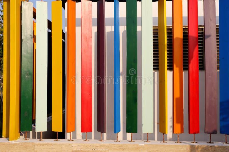 五颜六色的木板,五颜六色的木板条 免版税库存照片