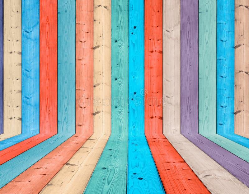 五颜六色的木背景 库存照片
