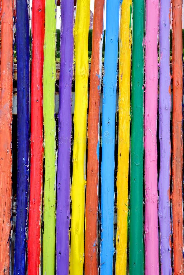 五颜六色的木fance背景 库存图片