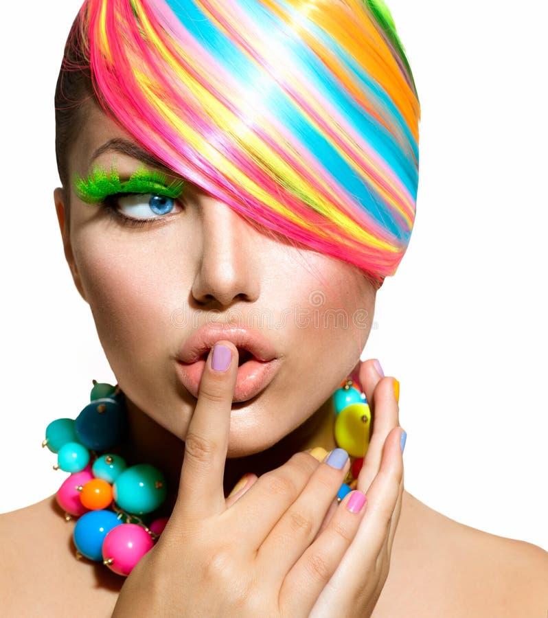 五颜六色的构成、头发和辅助部件 库存图片