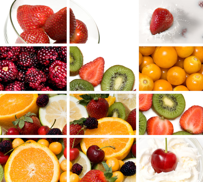 五颜六色的构成果子 免版税库存照片