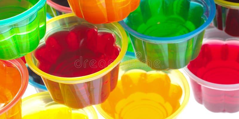 五颜六色的果冻 免版税库存照片