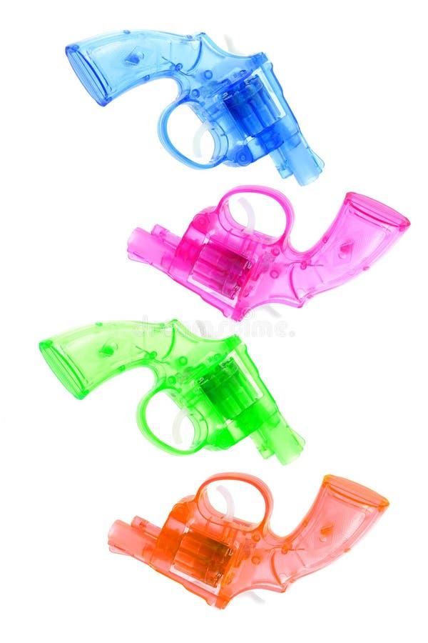 五颜六色的枪塑料玩具 库存图片