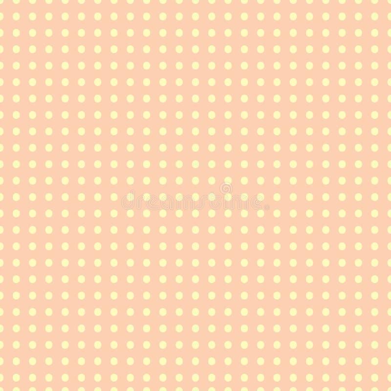 五颜六色的柔和的淡色彩加点无缝的样式 向量例证