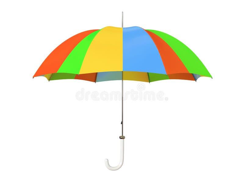 五颜六色的查出的伞 向量例证