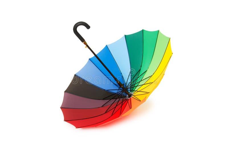 五颜六色的查出的伞 免版税库存照片