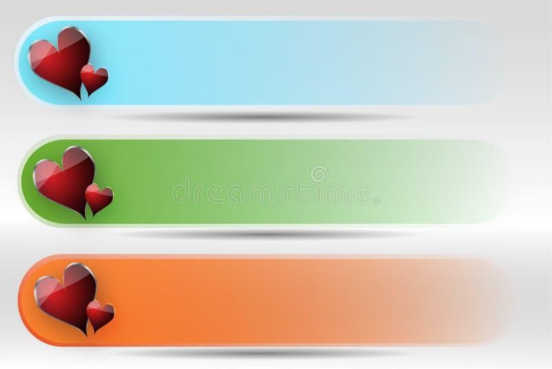五颜六色的标头集 库存照片