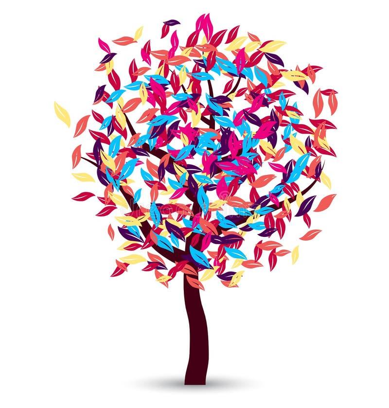 五颜六色的树传染媒介设计 向量例证