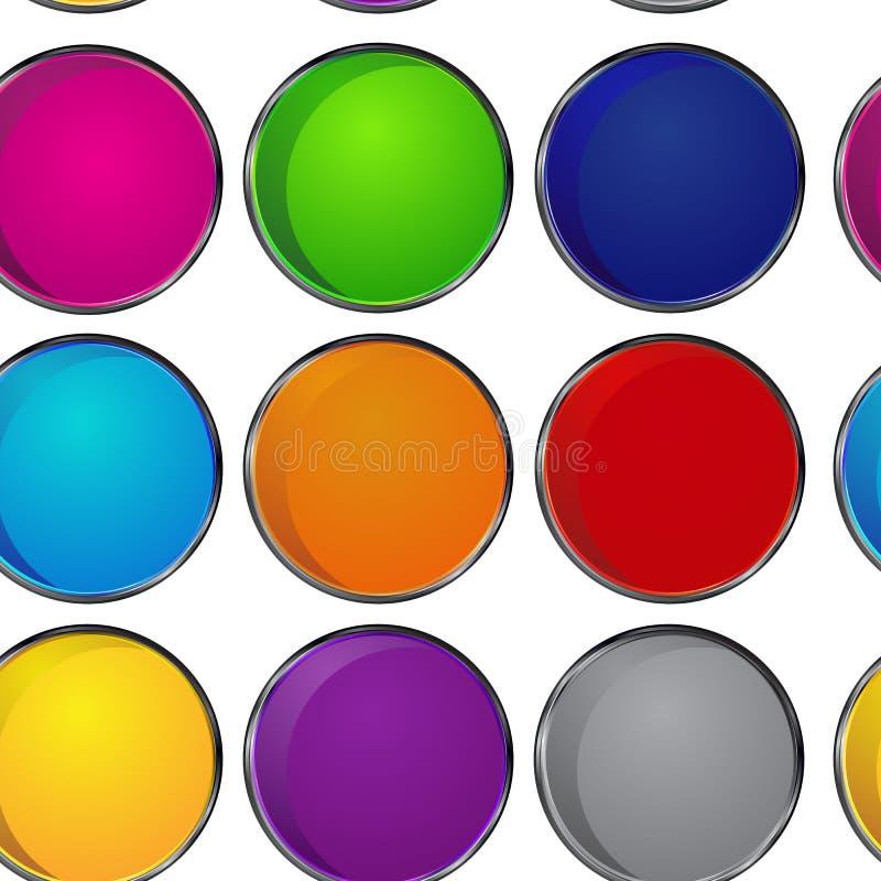 五颜六色的样式圈子 库存照片