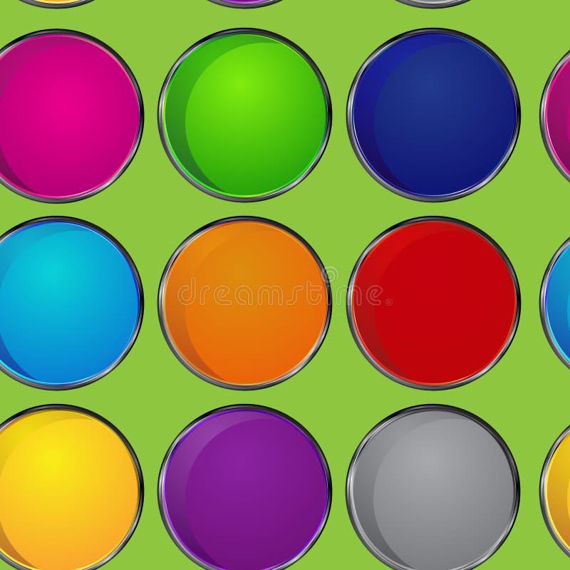 五颜六色的样式圈子 免版税库存图片