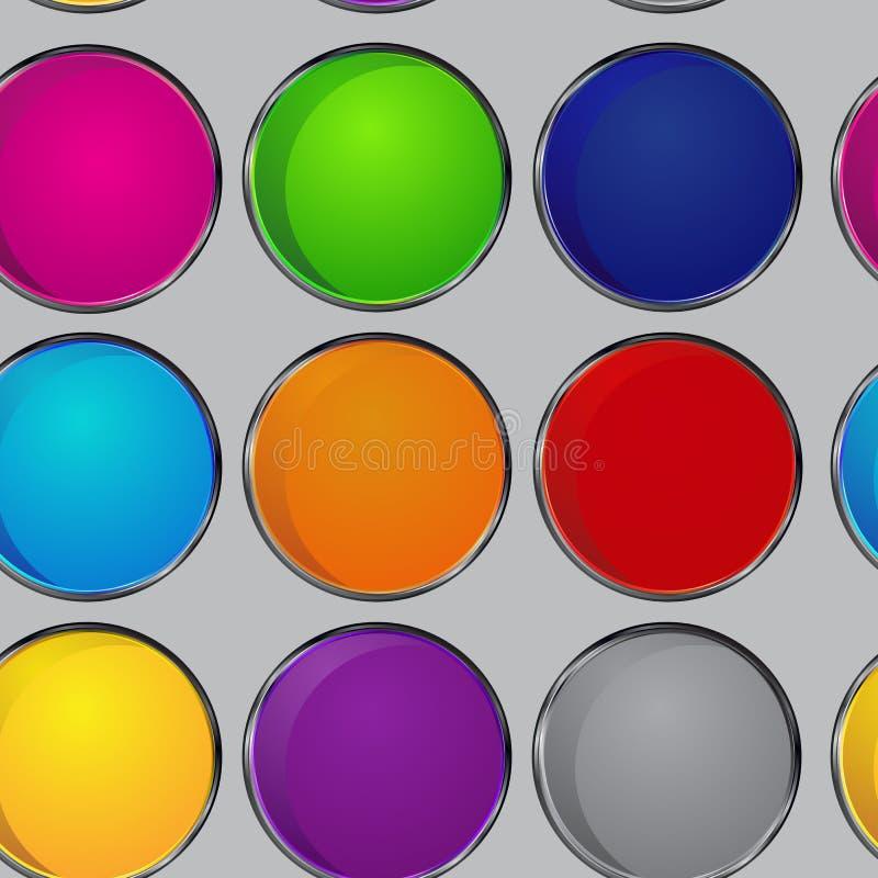 五颜六色的样式圈子 免版税库存照片