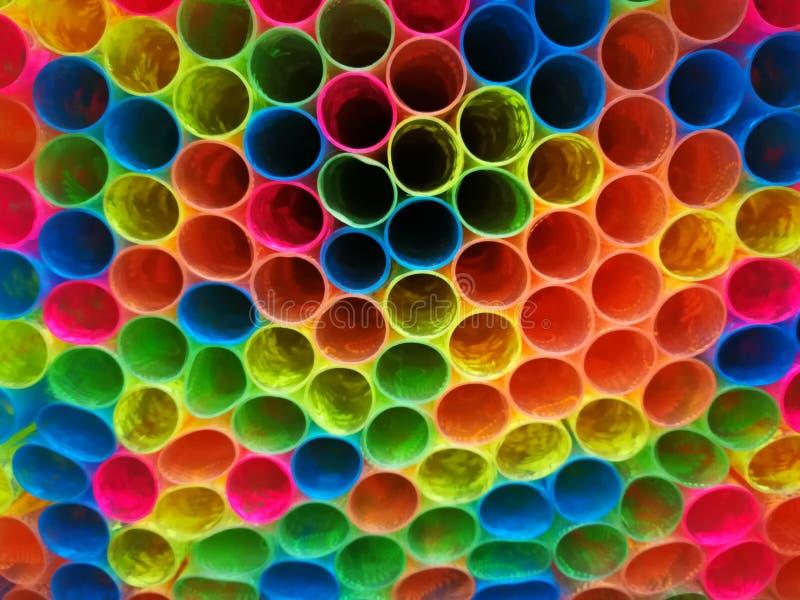 五颜六色的样式塑料包裹的书 库存图片