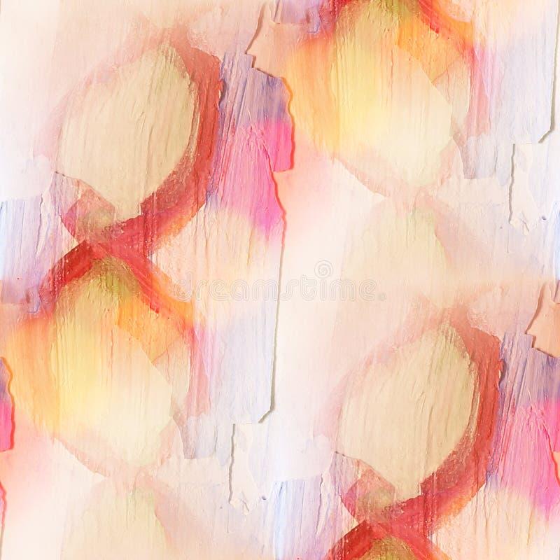 绘五颜六色的样式水纹理摘要颜色无缝的pur 向量例证