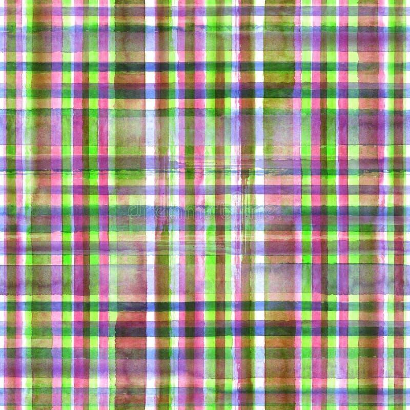五颜六色的格子花呢披肩无缝的样式 免版税图库摄影