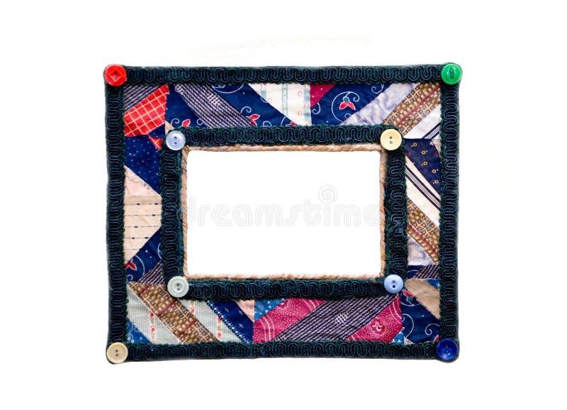 五颜六色的框架照片被子 库存图片
