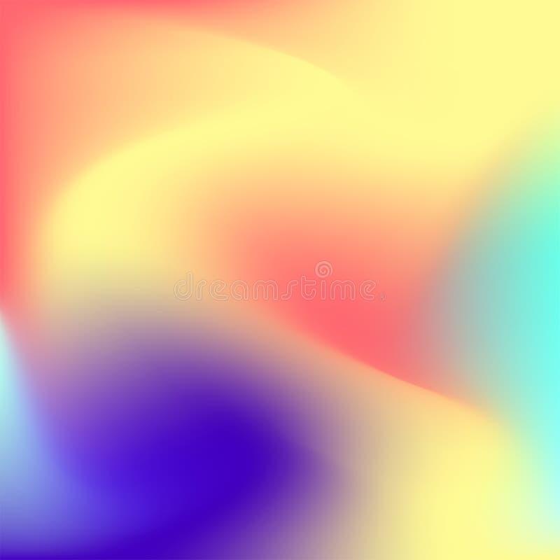 五颜六色的梯度背景、蓝色、黄色、红色和紫色 皇族释放例证