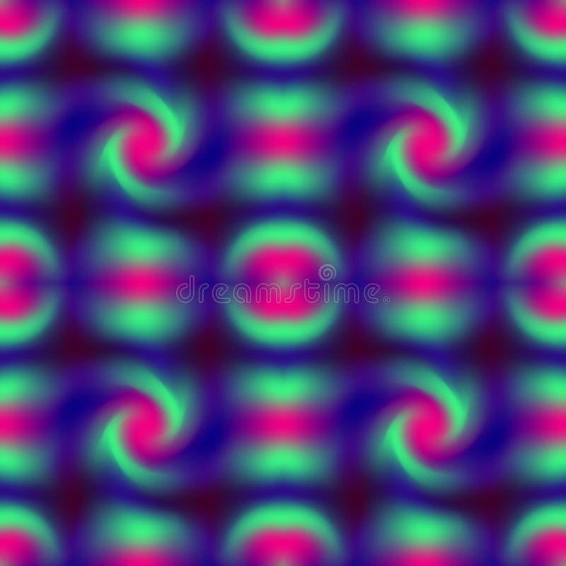 五颜六色的梯度滤网无缝的样式相反蓝色,洋红色和深蓝颜色 摘要被弄脏的纹理 库存例证