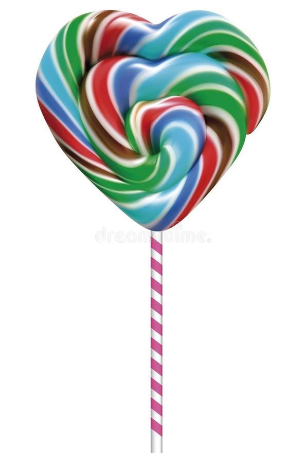 五颜六色的棒棒糖 向量例证