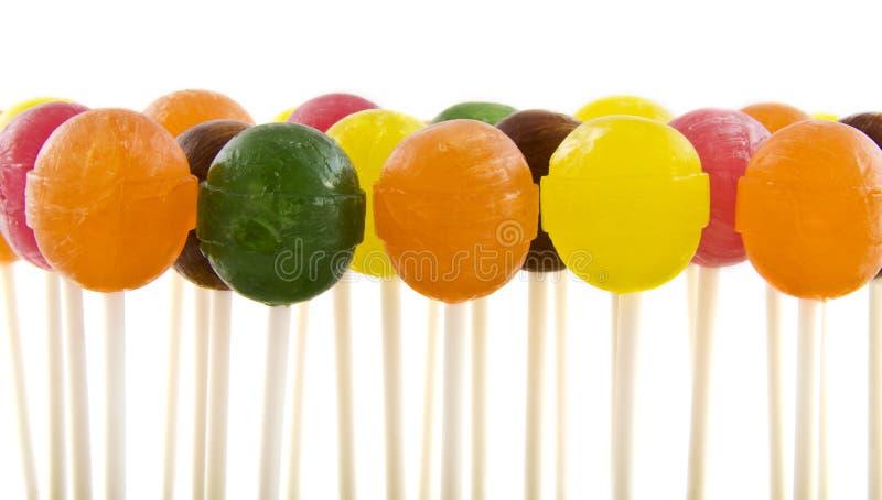 五颜六色的棒棒糖 图库摄影