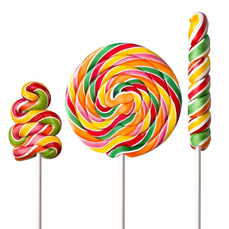五颜六色的棒棒糖 皇族释放例证